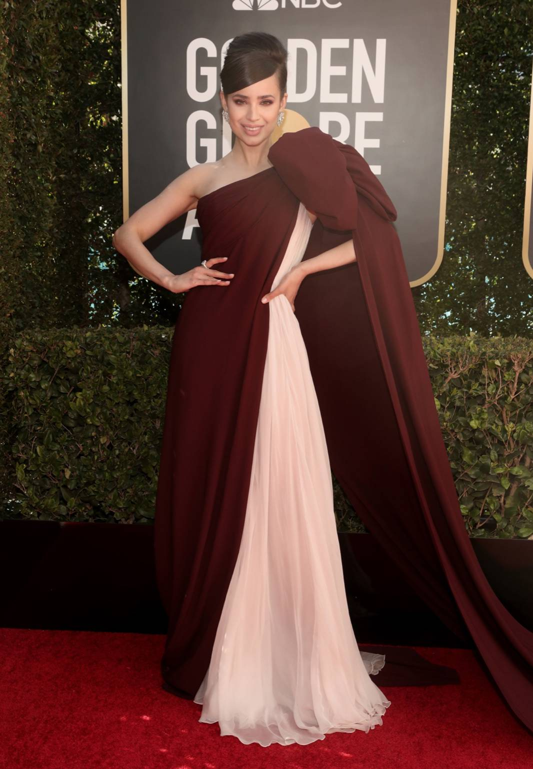 Sofia Carson at the Golden Globes