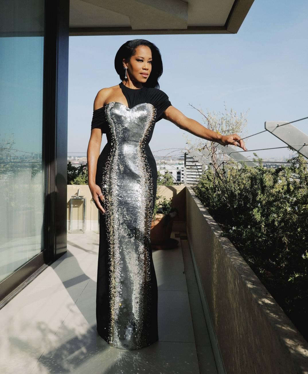Regina King at the Golden Globes